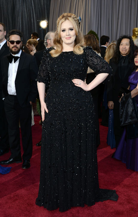 Adele Jenny at Oscars 2013 Red Carpet