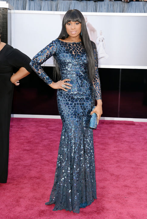 Jennifer Hudson at Oscars 2013 Red Carpet