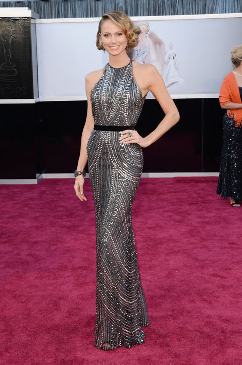 Stacy Keibler at Oscars 2013 Red Carpet