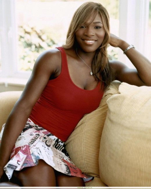 Hot Serena Williams in red top