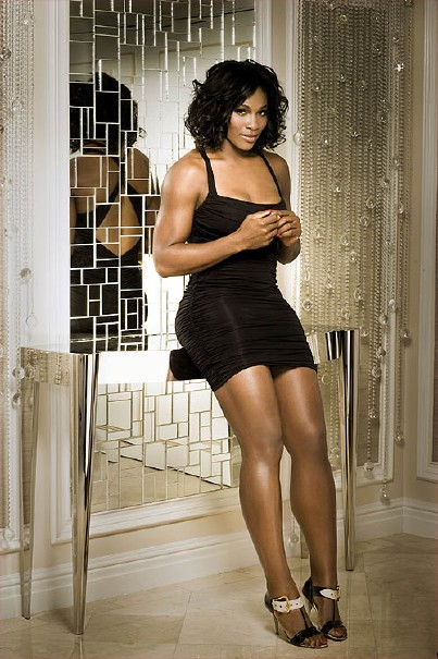 Hot Serena Williams in black dress