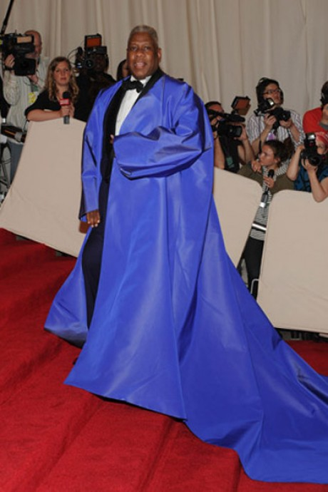 Andre Leon Talley on Red Carpet Met Gala 2013