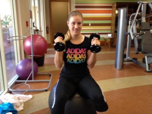 Angelique Kerber at gym