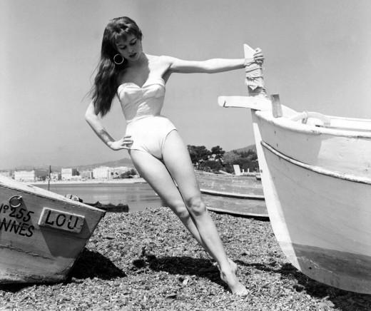 Brigitte Bardot at Cannes Festival in 1953