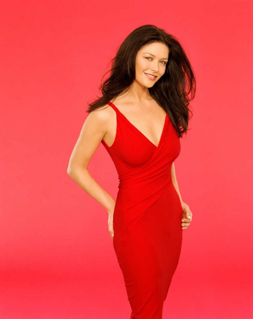 Catherin Zeta Jones in red