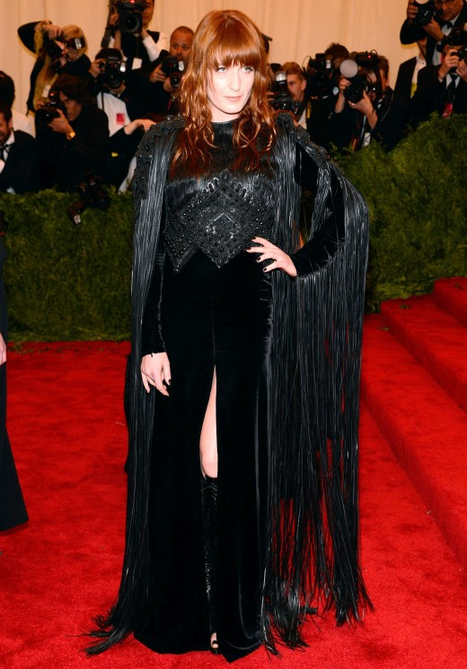 Met ball Fashion Show 2013 Florence Welch