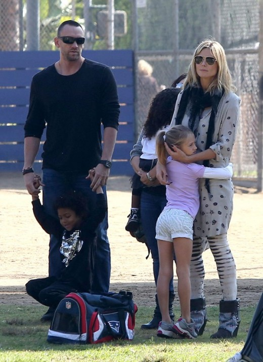 Heidi Klum with her boyfriend & Child