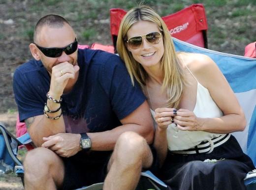 Heidi Klum with her boyfriend Martin Kristen
