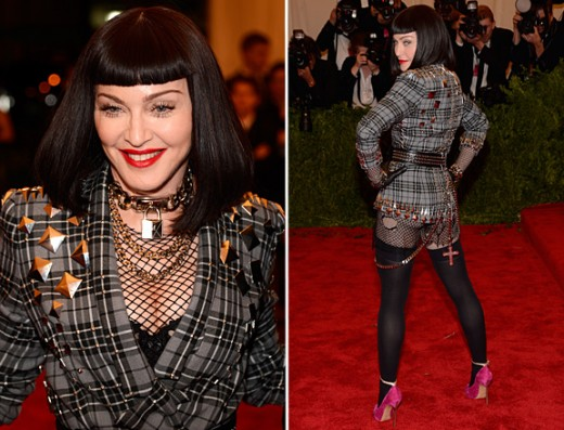Madonna in Met ball Fashion Show 2013