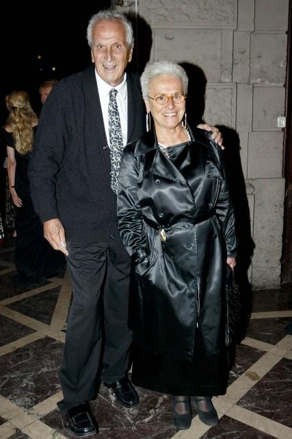 Ottavio Missoni with wife Rosita