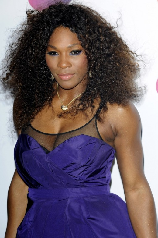 Serena Williams in Blue Dress