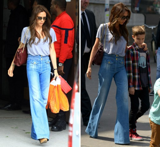 Victoria Beckham repeat outfit