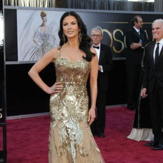 catherine zeta Jones gloden dress