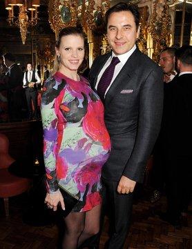 Lara Stone with her Husband