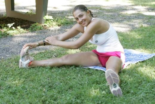 Tamira Paszek Hot workout image