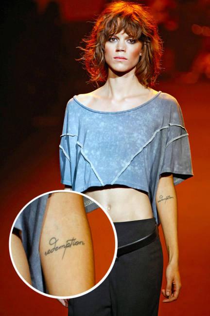 Freja Beha Erichsen Tattoos Image