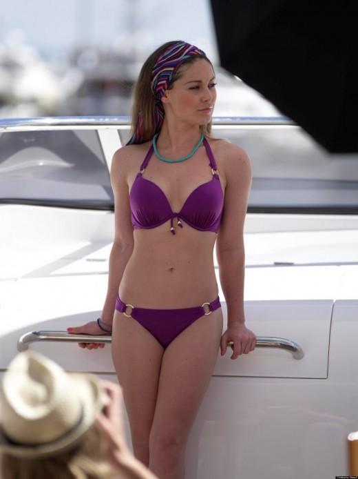 Hot Louise Thompson in Bikini Wallpaper