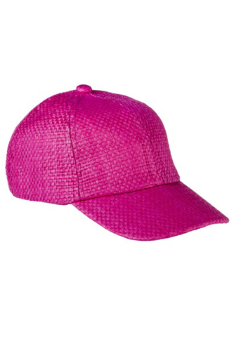 Women Summer Pink Color Cap Image