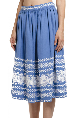 12 Embroidered Pieces Collection 2013 Long Skirt Pic