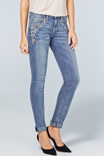 12 Embroidered Pieces Collection 2013 Stylish Jeans Pic