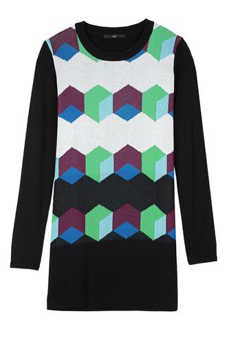 Pre Fall of Tibi Collection 2013 Geo Intarsia Sweater Dress Photograph