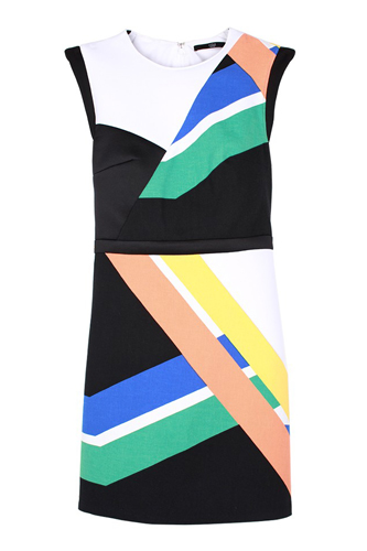 Pre Fall of Tibi Collection 2013 Multicolor Transit Dress Photo