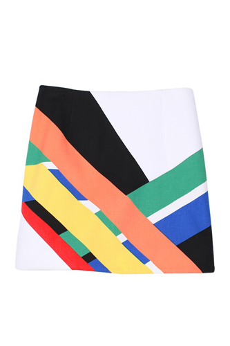 Pre Fall of Tibi Collection 2013 Multicolor Transit Skirt Photo