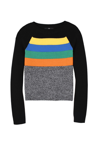 Pre Fall of Tibi Collection 2013 Stripe Melange Sweater Still
