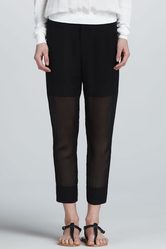 Sheering Clothing Style Pieces Collection Black Color Pant Image