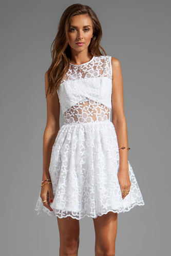 Sheering Clothing Style Pieces Collection Beautiful White Dress Photo