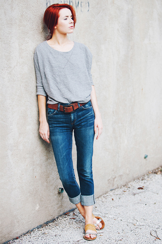 Summer Women Stunning Jeans Photo