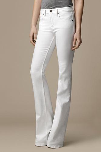Women Summer 9 Beautiful White Jeans Wallpaper