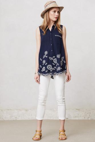 Women Summer 9 Beautiful White Jeans Image