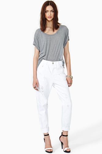 Women Summer 9 Beautiful White Jeans Snapshot