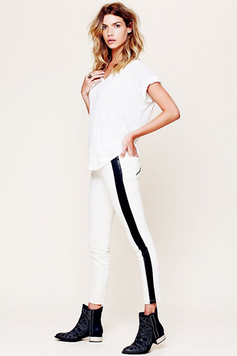 Women Summer 9 Beautiful White Jeans Still