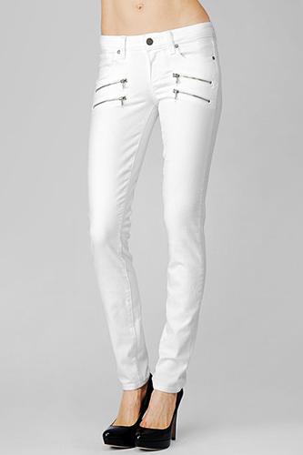 Women Summer 9 Beautiful White Jeans Image Still