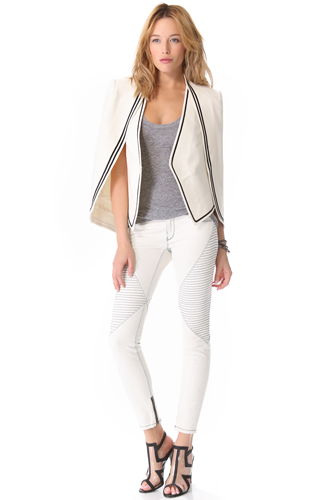 Women Summer 9 Beautiful White Jeans Pic
