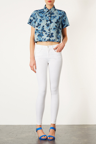 Women Summer 9 Beautiful White Jeans Picture