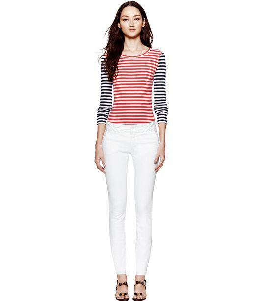 Women Tory Burch Jeans Collection 2013 White Jeans Photo