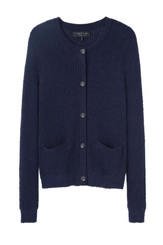 Women Beautiful Blue Sweater Image