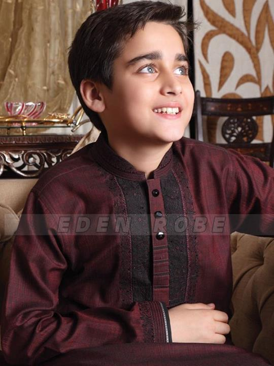 Eden Robe Kids Dresses for Eid ul Fitr 2013 Beautiful Dull Color Dress
