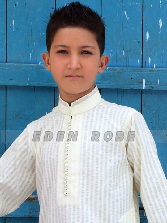 Eden Robe Kids Dresses for Eid ul Fitr 2013 White Dress Wallpaper