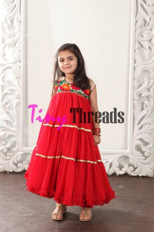 Eid Collection by Tiny Threads for the Kids Beautiful Color Dress Image