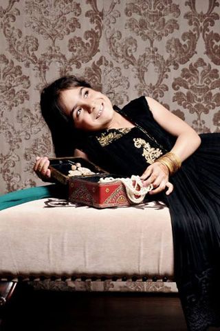 Eid Kids Collection 2013 by Zainab Chottani Black Color Dress