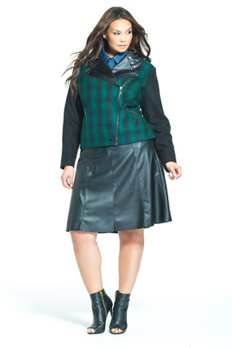 Hot & Perfect Trends for Curvy Girls Leather Skirt