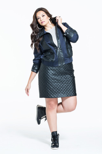 Hot & Perfect Trends for Curvy Girls Black Leather Dress