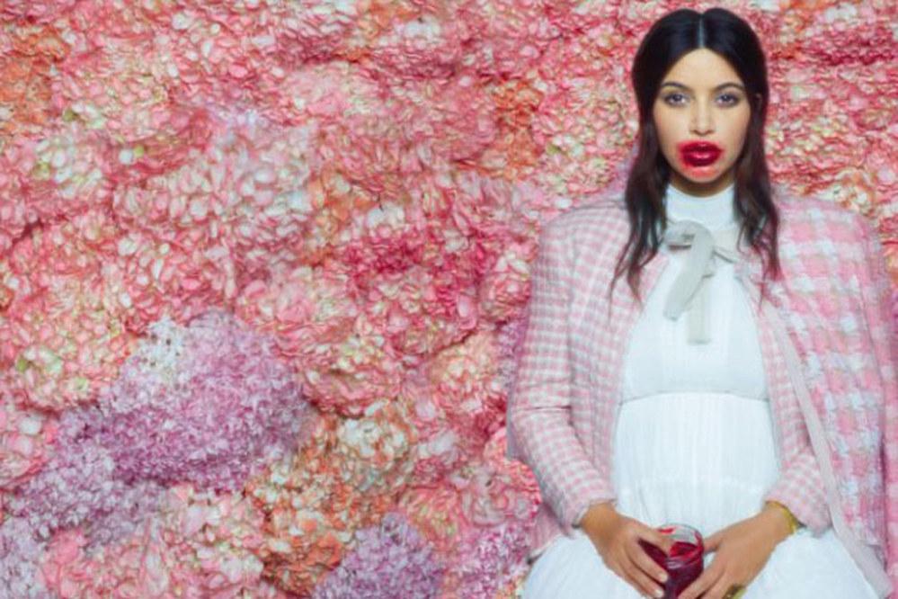 Kim Kardashian Bizarre Karl Lagerfeld photoshoot
