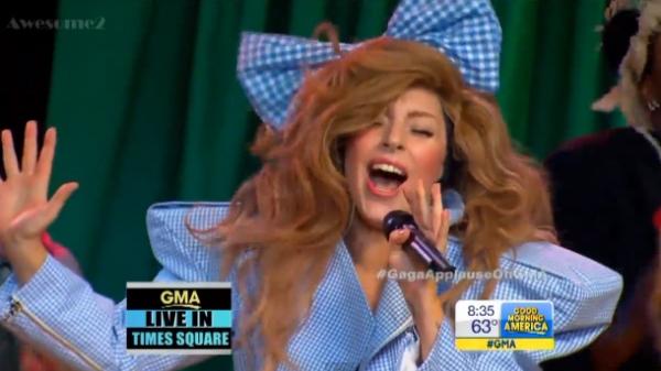 Lady Gaga Good Morning Show Pics