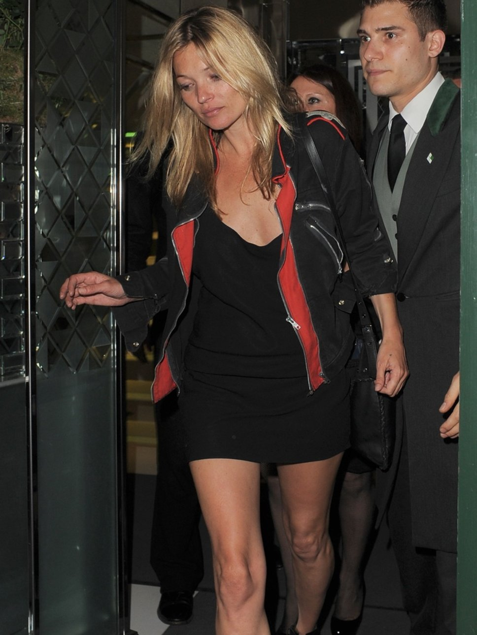 Kate Moss Hot Black Dress Photo