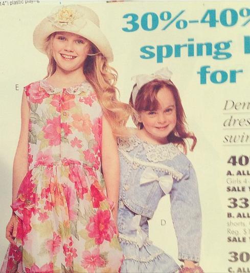 Kirsten Dunst and Lindsay Lohan as '90s Kid Models